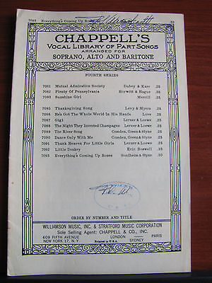 Everything's Coming Up Roses from Gypsy -SAB vocal +piano 1961 sheet music ()