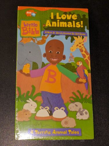 Little Bill : I Love Animals! Nick Jr. Paramount Viacom VHS - Bill Cosby - NEW