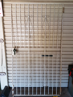WROUGHT IRON METAL SECURITY GATE DOOR GRILLE   PICK UP ASCOT QLD