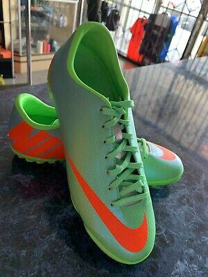 nike mercurial victory IV TURF SOCCER SHOES   LIME GREEN ORANGE  size  7.5 ONLY Lime Green Soccer Shoes