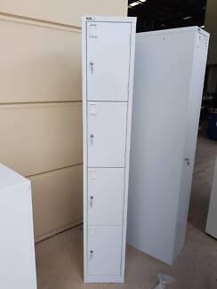 4 DOOR LOCKER UNIT cabinet storage garage school office work