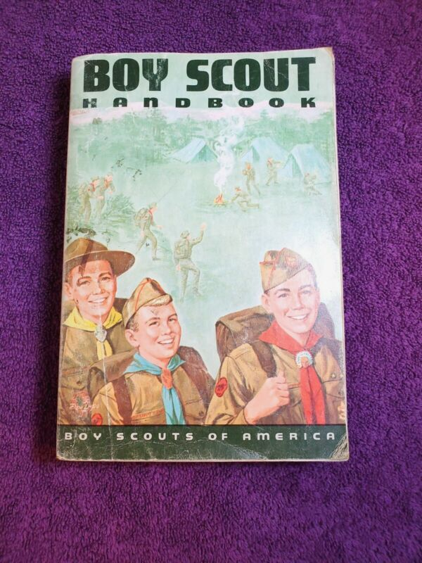 Vintage 1970 Boy Scout Handbook BSA Good Condition Norman Rockwell Cover