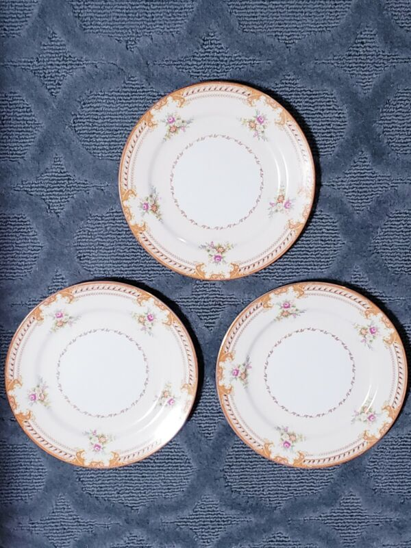 "Set 3 IMPERIAL CHINA JAPAN NORMANDIE 10"" Dinner Plates"