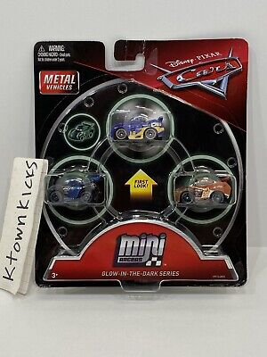 Disney Pixar Cars Metal Mini Racers Glow in the Dark Danny Swervez Jackson Tim