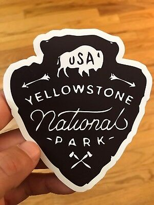 Yellowstone National Park Arrowhead Wyoming Decal Sticker Vinyl Explore Hiking