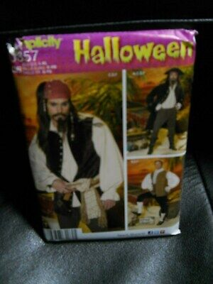Pirate Halloween Costume Pattern (Simplicity Halloween Costume Pattern 0857 Sizes L XL Carribean Pirate)
