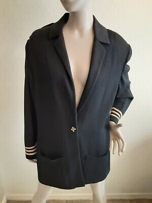 St. John Collection Women's Black Knit Blazer Jacket Size 12