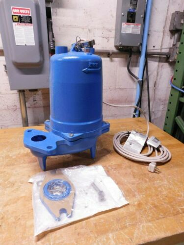 Goulds Pumps 1/3 HP Submersible Sewage Pump 115V 118 GPM 1PH