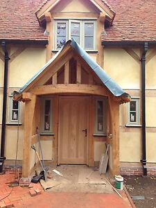 Green Oak Timber Framed Porch, Garden Building