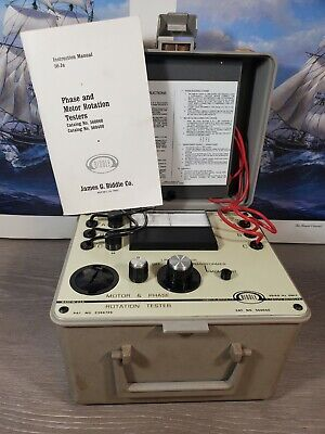 Biddle Motor Phase Rotation Tester 560060 Electrical Test Equipment Instrument