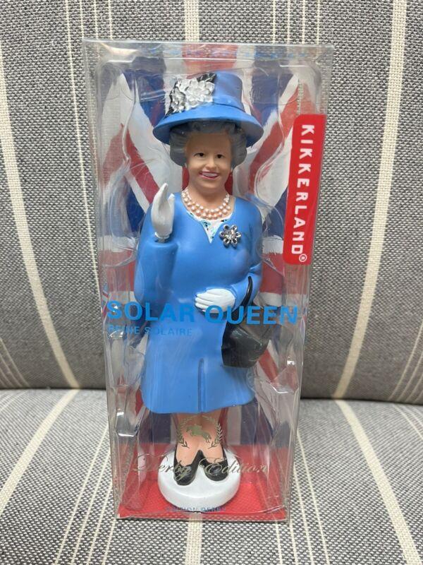 "Solar Queen Elizabeth ""The Crown"" Waving Figurine Blue Dress NEW FREE SHIPPING"