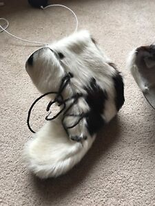 Real pony hair boots