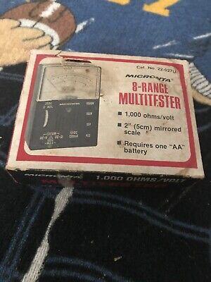 Vintage Micronta 8-range Multitester Radio Shack Tandy 22-027u In Original Box