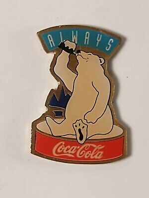 Coca-Cola Coke Always Coca-Cola Polar Bear Lapel Pin