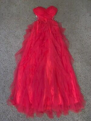 Masquerade Pink Beaded Sparkle Prom Dress Size - Masquerade Dresses