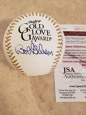JSA Bob Gibson autographed Rawlings MLB Gold Glove Baseball Bob Gibson Autographed Baseball