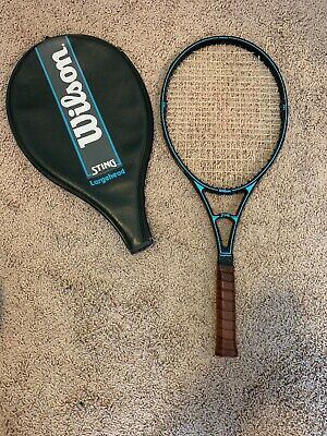 39084ba055 Wilson Graphite Sting Largehead Tennis Racquet Vintage Excellent Condition