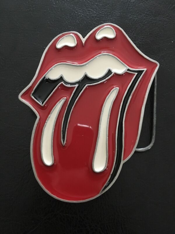 NEW VTG RSTE 2005 Mobtown Chicago Rolling Stones Tongue Belt Buckle Rock Roll