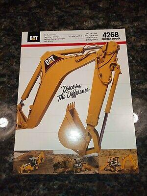 1992 Caterpillar 426b Backhoe Loader Sales Brochure Cat Diesel Power