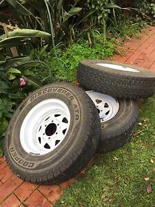 Trailer Wheels and Tyres - Landcruiser 6 stud -  Cooper 235/85R16 Box Hill South Whitehorse Area Preview