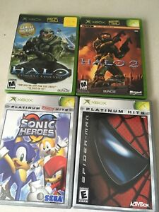 4 Original Complete working Xbox Games