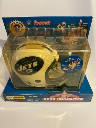 NY NEW YORK JETS NFL RIDDELL DESK ORGANIZER MINI HELMET RARE SEALED IN PACKAGE - $24.99