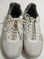 kuru gray leather white mesh casual athletic sneaker