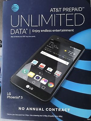 Brand New Lg Phoenix 3 At T Go Phone Free Shipping