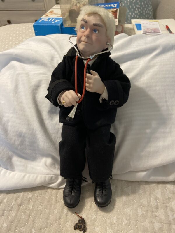 Doctor Norman Rockwell Porcelain Character Doll Figurine Collectors Edition