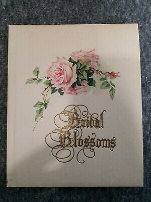 1927 Bridal Blossoms Wedding Guest Record Book Great For Display