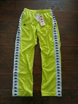 NWT Kappa 222 Banda Astoria Men's Lime Green White Track Pants Sz L W32-W34 L32