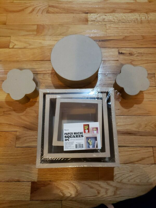 Paper Mache Squares And Boxes For Crafters