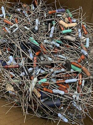 Huge Lot Of Resistors 1000s Or More Many Types Diy Builder Ham Radio Vintage
