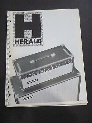 Vintage HERALD AMPS, Speakers & Accessories  Catalog - 1970