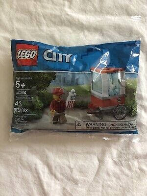 Lego City Popcorn Cart 30364 43 Pieces Ages 5+ New Polybag