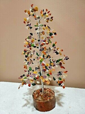 Multicolor Natural 500 Gemstone Chips Feng Shui Tree Home Decor - All Time Gift  Feng Shui Home Decor