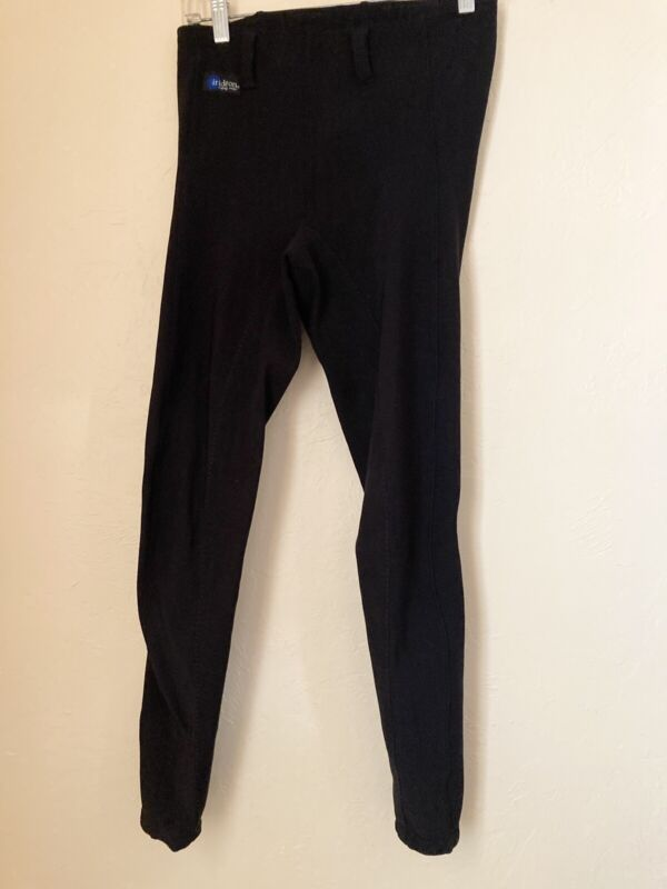 Irideon Womens Size Large Black Equestrian Ribbed Riding Pants Breeches