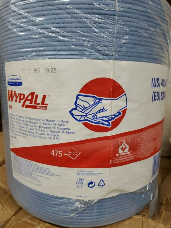 KIMBERLY CLARK BLUE WYPALL X80 WIPERS SHOP TOWELS CLEANING RAGS 41043 JUMBO ROLL
