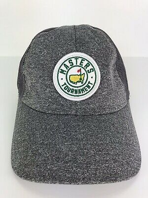 a0f1ce24 Masters Golf Tournament Trucker Hat Grey Mesh Snapback Patch NWOT