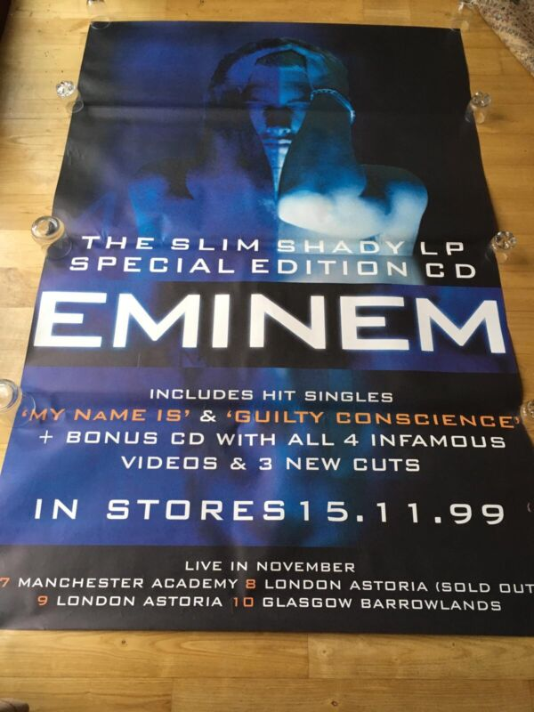 Eminem - Rare UK Tour Gig Poster  November 1999 (London Glasgow & Manchester)