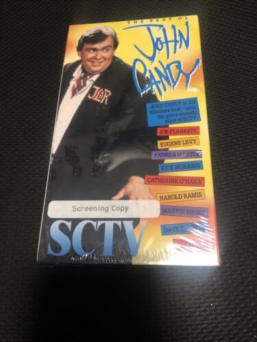 The Best Of John Candy On SCTV VHS, 1992 New Sealed Screening Copy - $15.00