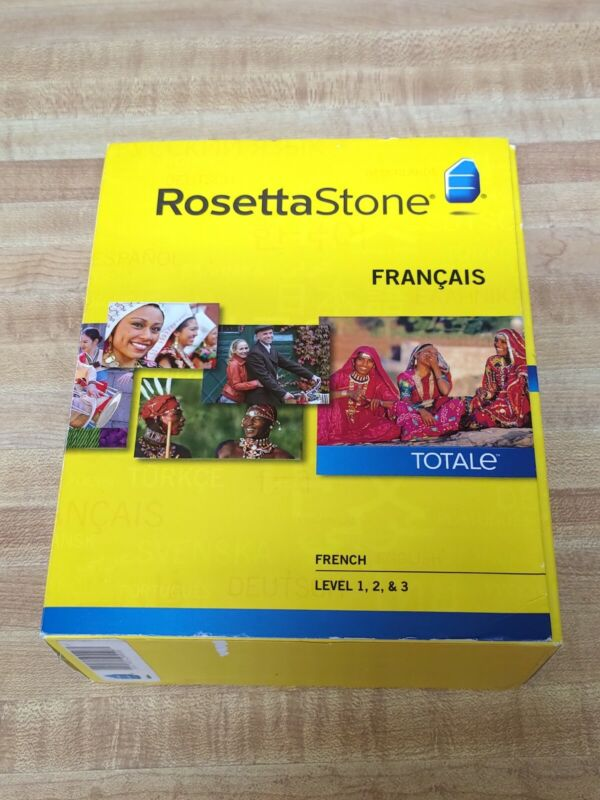 Rosetta Stone French Level 1,2,3 Version 4 EXCELLENT Disc Set