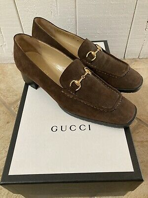 Vintage Gucci Horsebit Loafers Pony Hair Authentic Size 8.5 B11 Brown Mint Wow!!