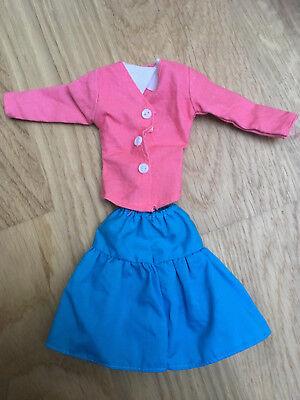 Puppe Kostüm Frauen (Puppenkleidung Barbie Frau Kostüm Rock Bluse Blazer 90erJahre Vintage)