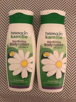 Herbacin Kamille Skin Firming Body Lotion (lot of 2) NEW 8.3 OZ Each