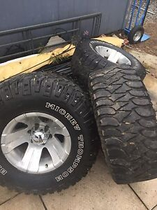 Big Mickey Thompson tires and wheels.