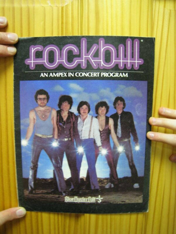 Blue Oyster Cult Concert Program Rock Bill Fold Out Poster Band Shot