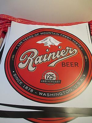 Rainier Beer Advertising Lot Pennant Flags 2003 Seattle Brewing RARE Man Cave
