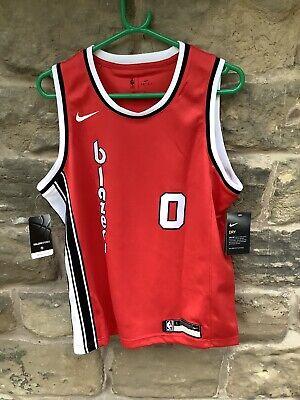 Brand New With Tags Nike NBA Portland Trailblazers Jersey Kids Large Lillard 0