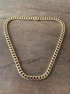 9ct Yellow Gold Men's Curb Link Necklace